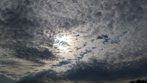 Beautiful cloud patterns, courtesy of Hermine.