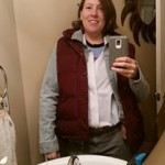 Dressing as Marty McFly (hiding my pregnant belly) last year on the actual date Marty McFly came to the future.