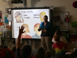 I enjoyed discussing Corgi Capers with eager young readers and writers at the start of the year. Photos courtesy of Catoctin Elementary School facebook page.